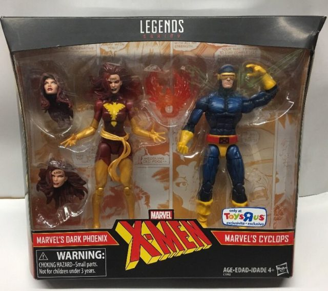 Marvel Legends Dark Phoenix and Cyclops Two-Pack Packaged Production Sample