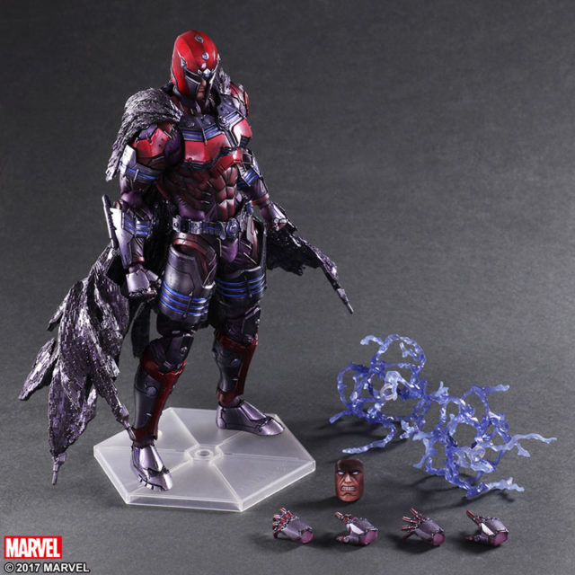 Marvel Play Arts Kai Magneto Figure and Accessories