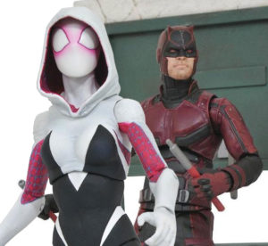 Marvel Select Spider-Gwen and Netflix Daredevil Figures