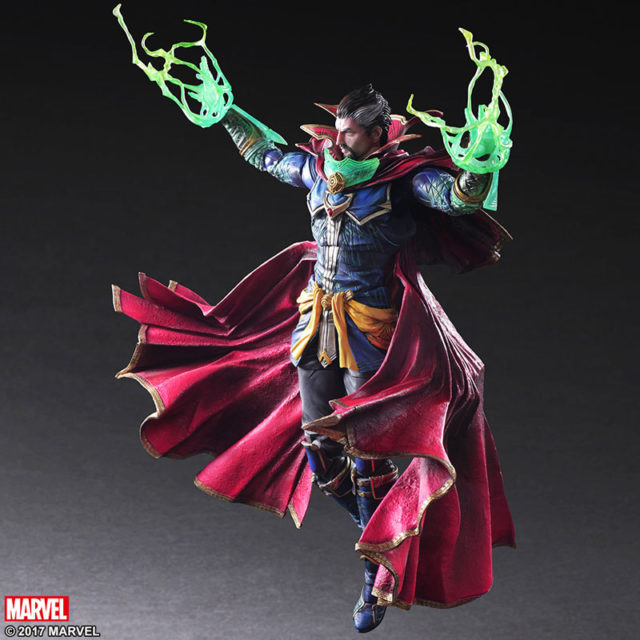 Play Arts Kai Doctor Strange 10 Inch Figure Flying