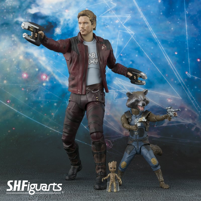 SH Figuarts Rocket Raccoon Baby Groot Star-Lord Figures
