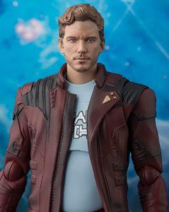 SH Figuarts Star-Lord Six Inch Figure Chris Pratt Likeness Unmasked