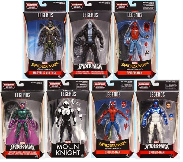 Marvel Legends Spider-Man Homecoming Series Figures Packaged
