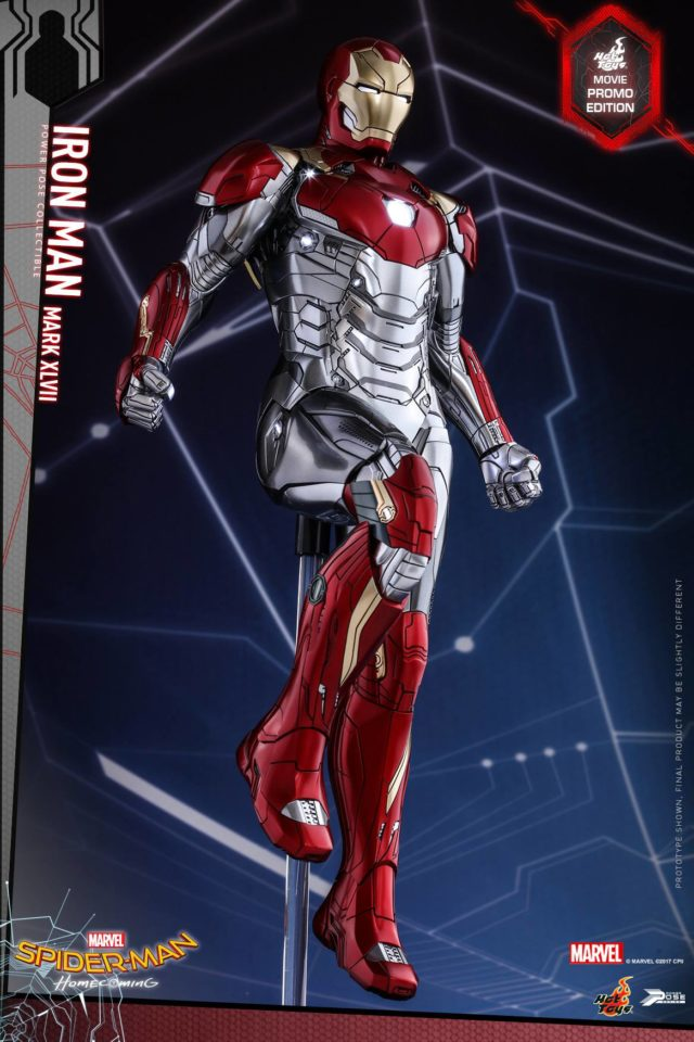 Spider-Man Homecoming Hot Toys Iron Man Mark XLVII Sixth Scale Figure