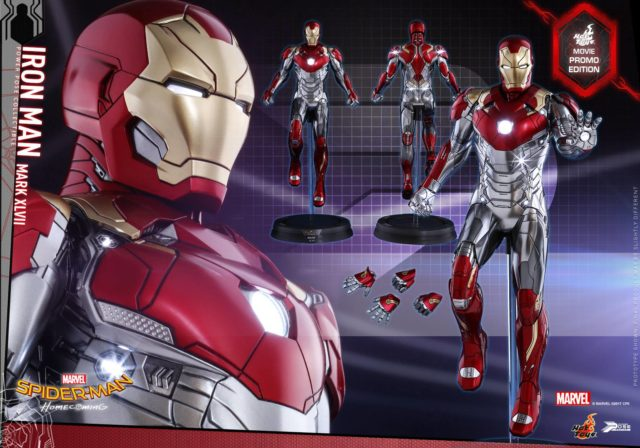 Spider-Man Homecoming Iron Man Movie Promo Edition Hot Toys LED Lights