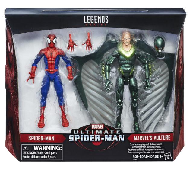 Walmart Marvel Legends Ultimate Spider-Man Vulture Two-Pack