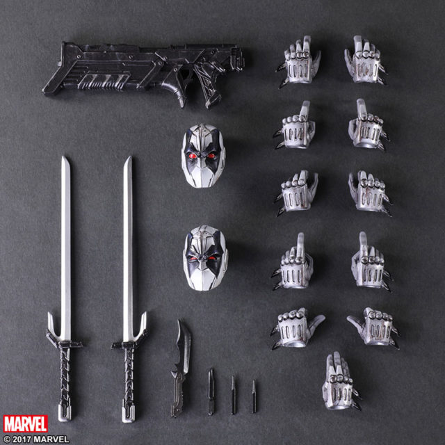 Accessories for X-Force Deadpool Play Arts Kai Figure