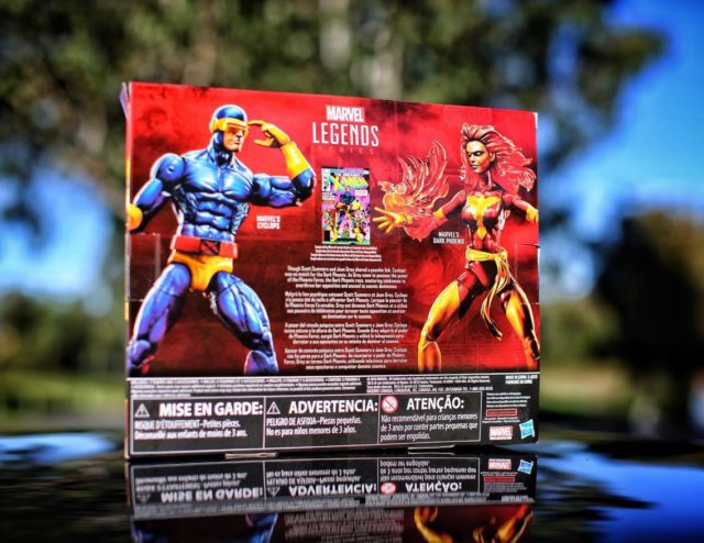 Box Back Cyclops Dark Phoenix Marvel Legends Two Pack