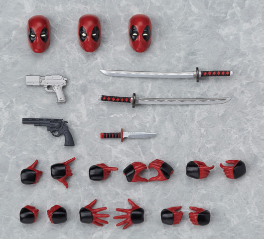 Figma Deadpool Accessores Swords Alternate Heads Guns Hands
