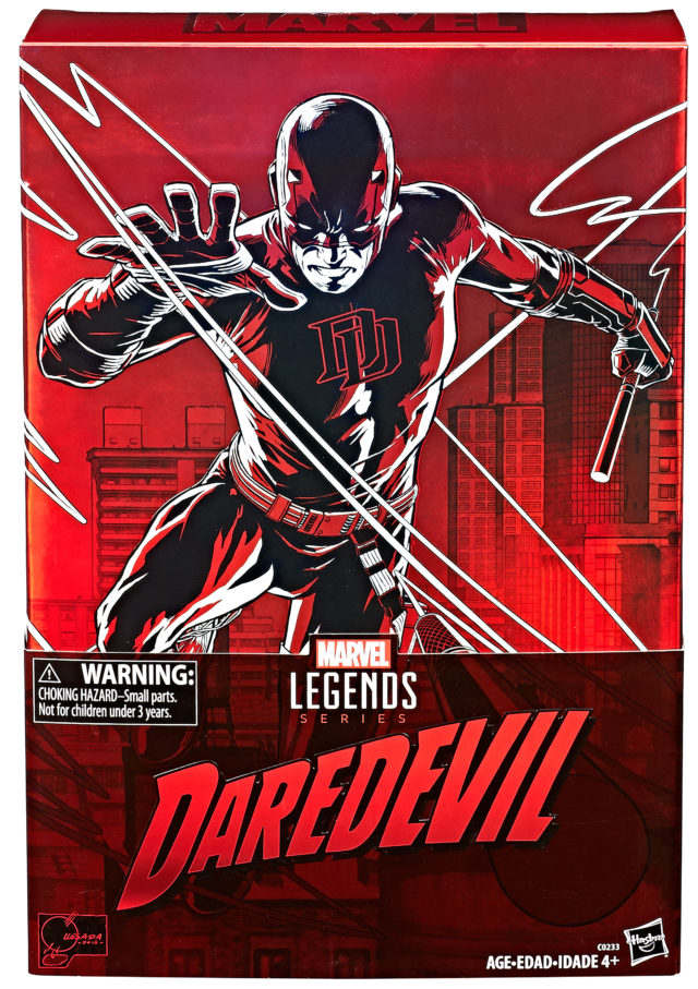 Front of Box for Hasbro Marvel Legends 12 Inch Daredevil Exclusive