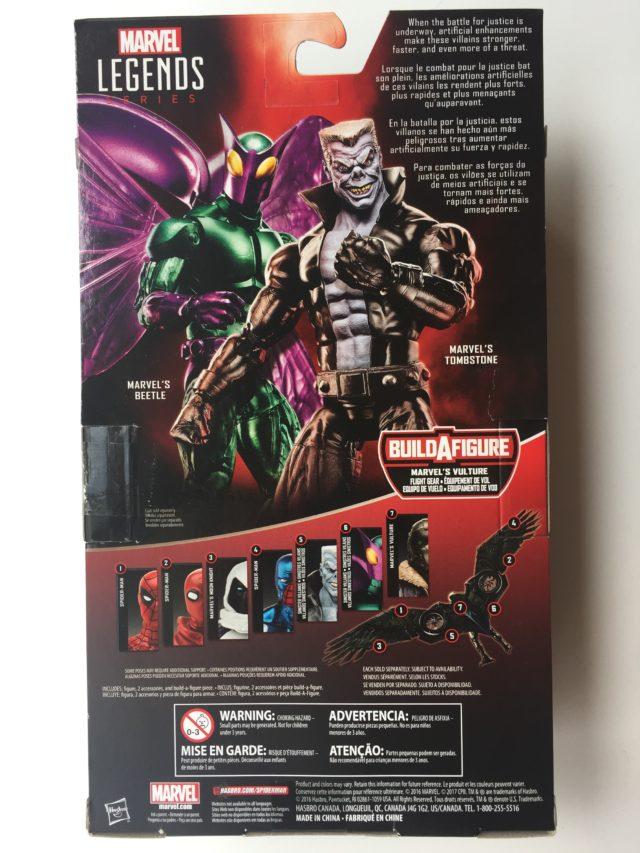"""Back of Box Beetle Marvel Legends 6"""" Figure"""