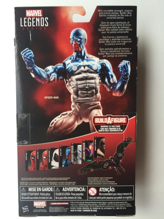 Back of Box Cosmic Spider-Man Marvel Legends Hasbro Figure