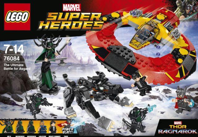 LEGO 76084 The Ultimate Battle for Asgard Thor Ragnarok Set