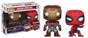 Target Exclusive Spider-Man Homecoming Iron Man POP Vinyls Two-Pack