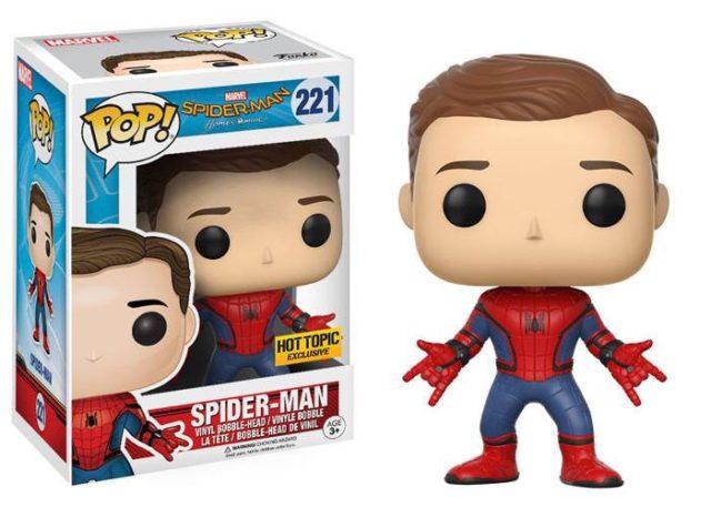 Hot Topic Exclusive Homecoming Spider-Man Unmasked POP Vinyl Figure