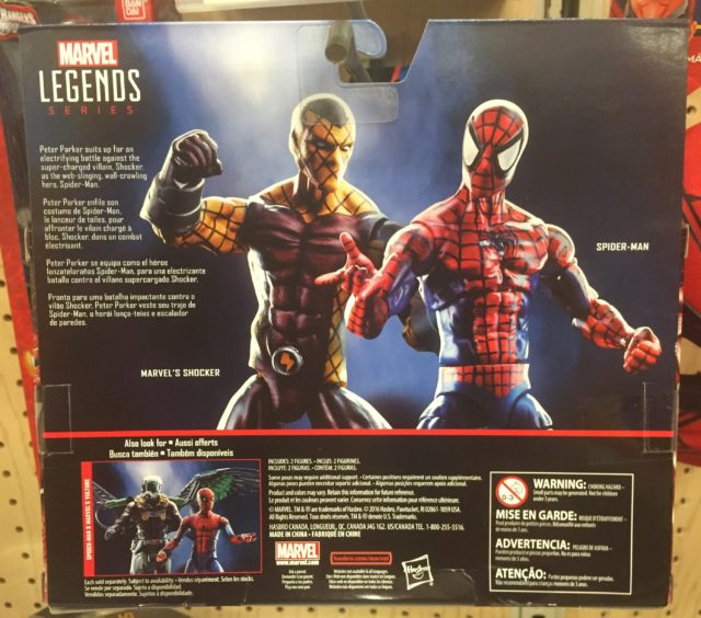 Back of Package Shocker Spider-Man Marvel Legends 2-Pack