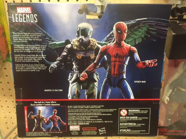 Packaging Back Vulture vs. Spider-Man Homecoming Marvel Legends Two Pack