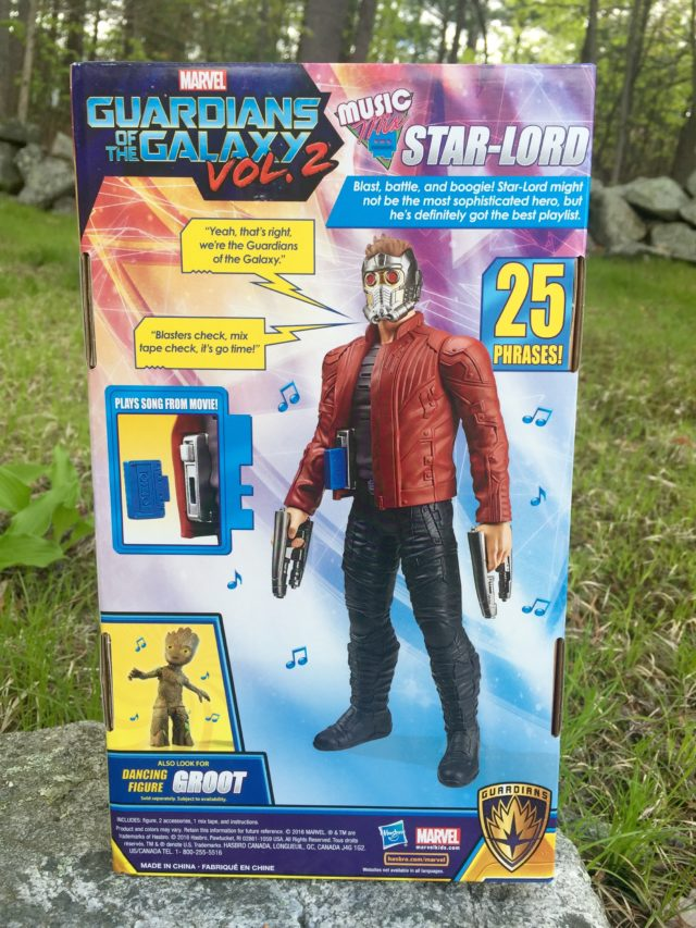 Marvel Titan Hero Music Mix Star-Lord Box Back