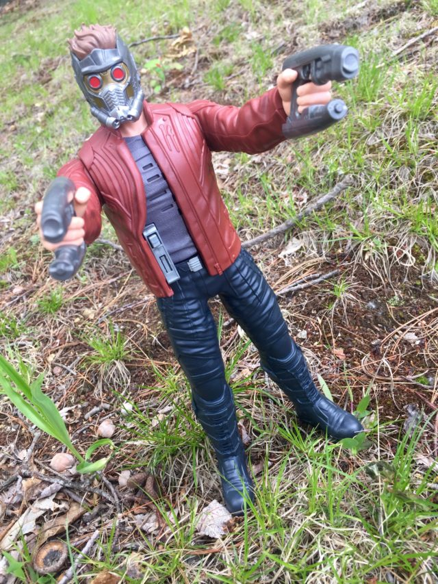 Guardians of the Galaxy Vol. 2 Titan Hero Star-LorClose-Up of Star Lord Music Mix Hasbro Figured Figure