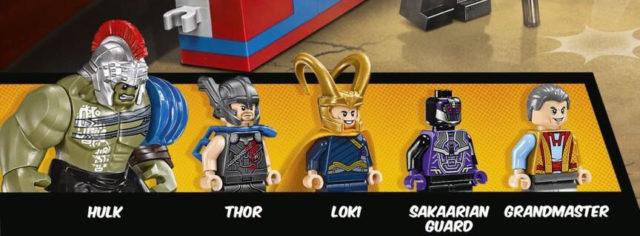 LEGO Thor Ragnarok Minifigures Gladiator Hulk Loki Grandmaster