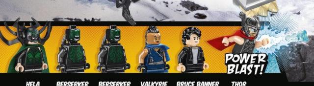 LEGO Thor Ragnarok Minifigures Hela Bruce Banner Valkyrie