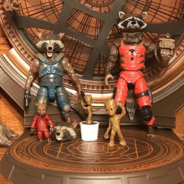 Marvel Legends 2017 Rocket Raccoon and Baby Groot Figures