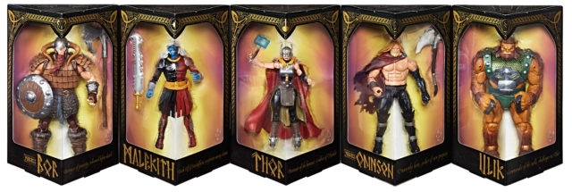Marvel Legends Battle for Asgard Figures in Package Hasbro SDCC 2017