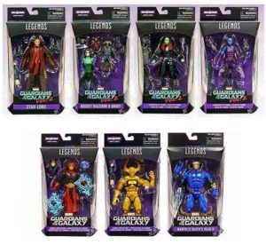 Marvel Legends Guardians of the Galaxy Wave 2 Figures Packaged