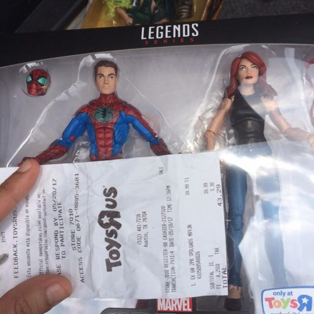 Marvel Legends Mary Jane Spider-Man Pack Out in Texas