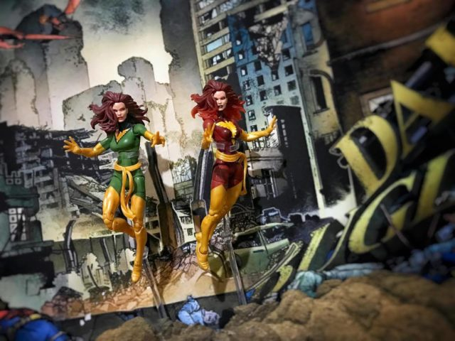 Marvel Legends Phoenix and Dark Phoenix Figures Comparison Photo