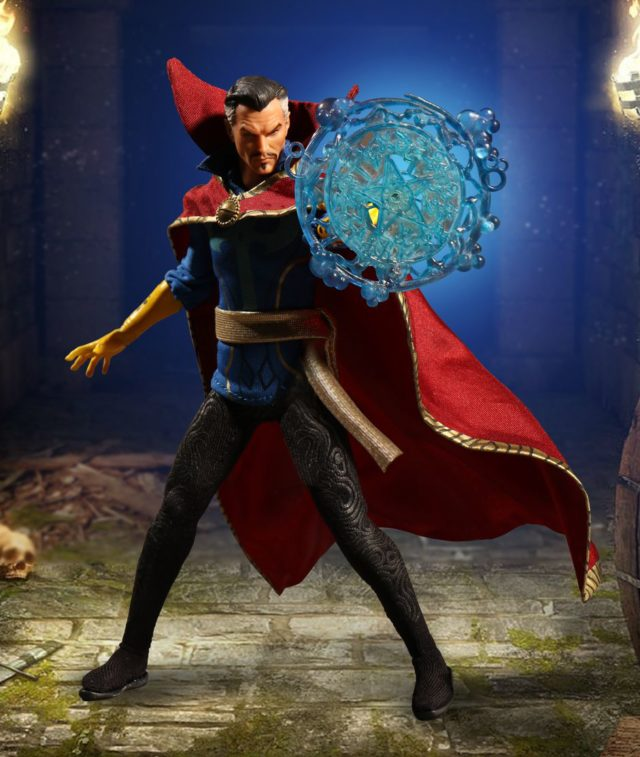 Mezco Marvel ONE 12 Collection Doctor Strange Figure with Magical Effects Piece