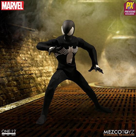 Mezco Spider-Man Black Costume ONE 12 Collective Six Inch Figure