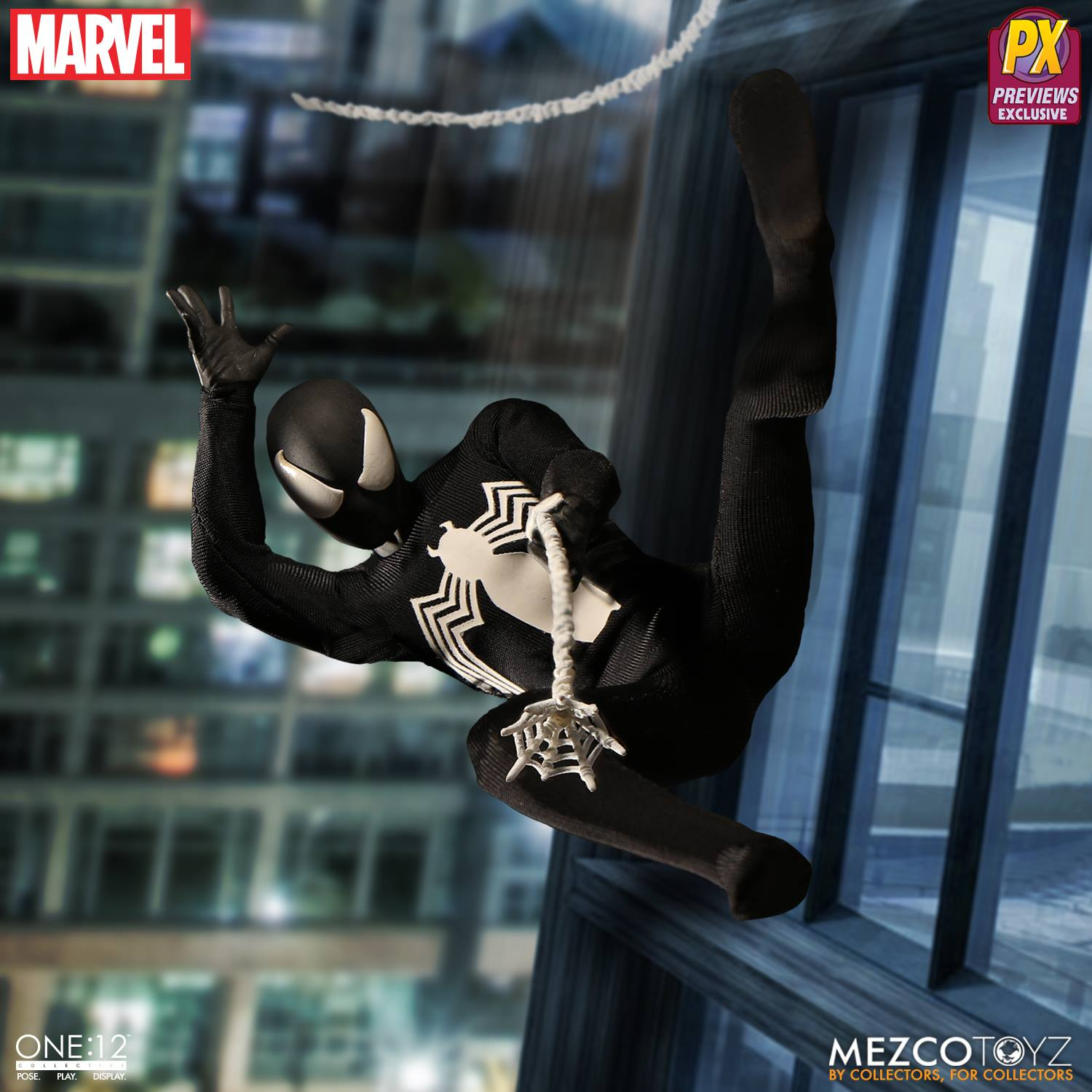 Mezco Symbiote Spider-Man ONE 12 Collective Figure Web-Slinging