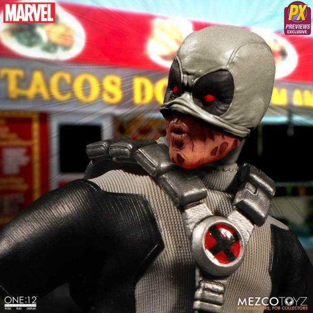 Mezco X-Force Deadpool Alternate Head with Mask Pulled Back