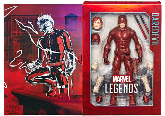Packaging for 2017 SDCC Hasbro Exclusive Marvel Legends Daredevil