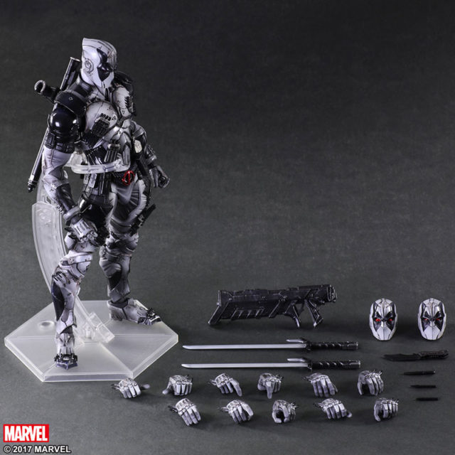Play Arts Kai X-Force Deadpool Figure and Accessories