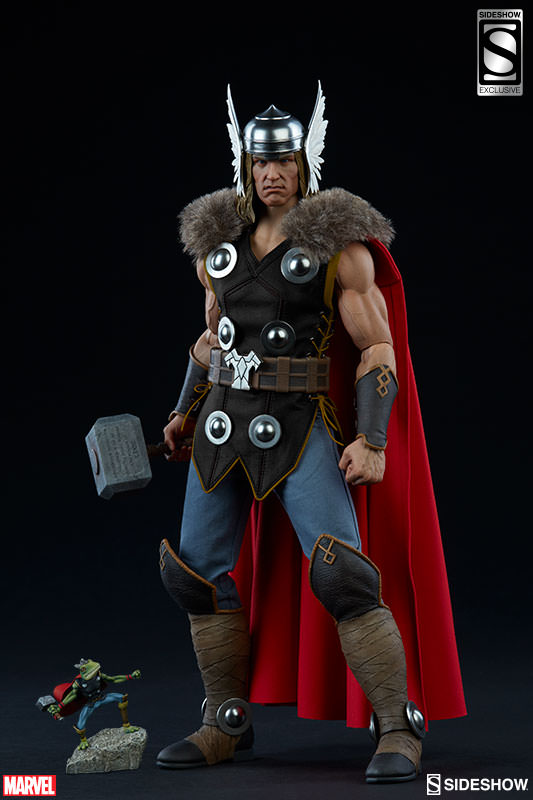 Sideshow Exclusive Thor Sixth Scale Figure with Frog of Thunder