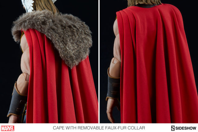 Sideshow Thor Figure Removable Faux Fur Collar
