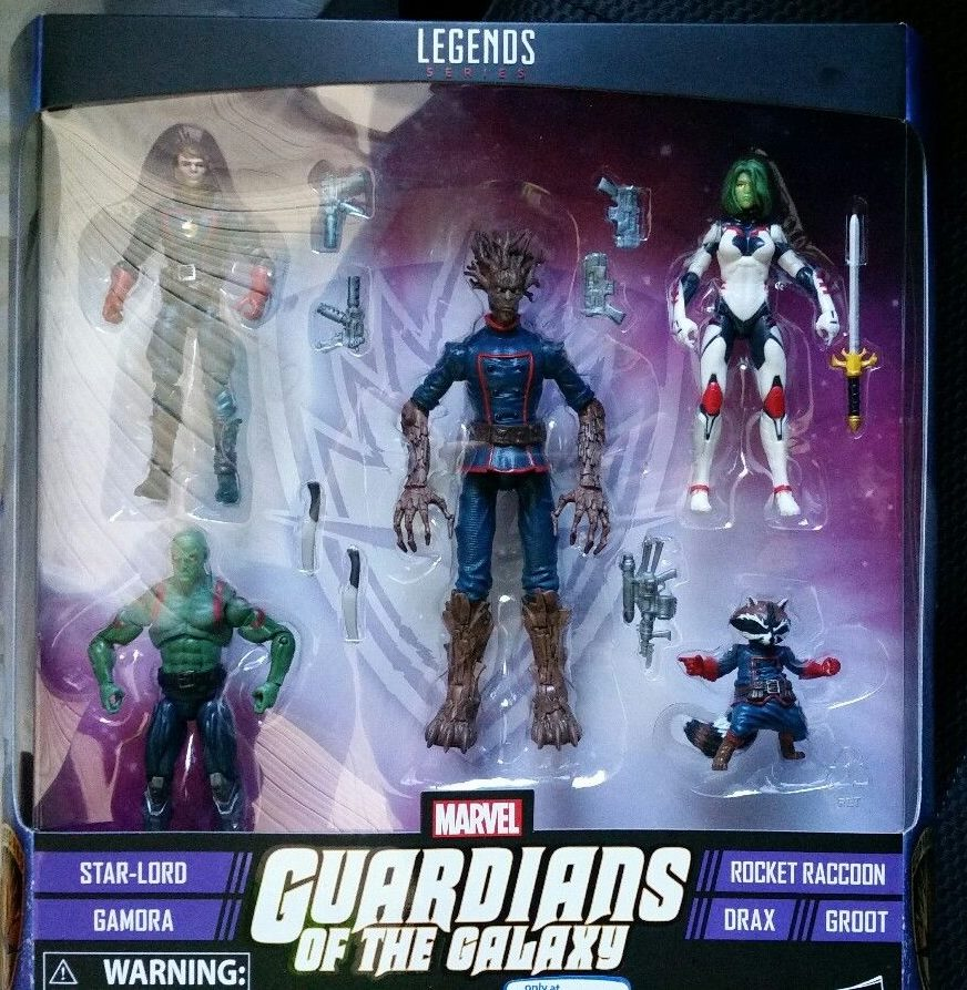 Drax Guardians of Galaxy Tru Rocket Marvel Legends-Star-Lord GROOT GAMORA