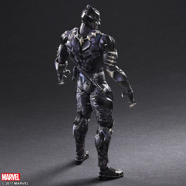 Back of PAK Black Panther Action Figure
