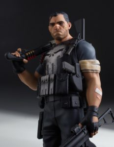 Close-Up of Marvel Collector Gallery The Punisher 10 Inch Statue