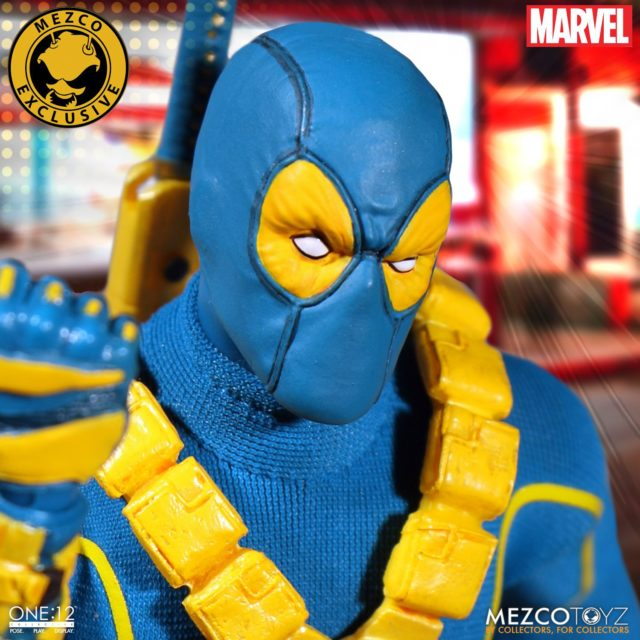 Close-Up of ONE 12 Collective SDCC Deadpool X-Men Variant Head