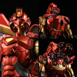 Close-Up of Sentinel House of M Iron Man Figure