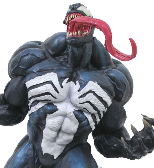 Close-Up of Venom Premier Collection Statue DST