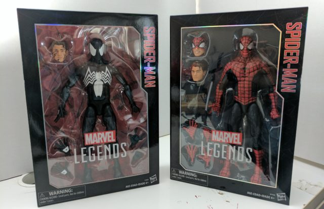 Comparison of Marvel Legends 12 Inch Spider-Man and Symbiote