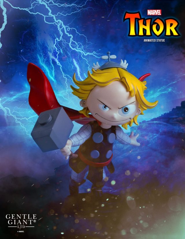 Gentle Giant Marvel Animated Thor Statue Poster