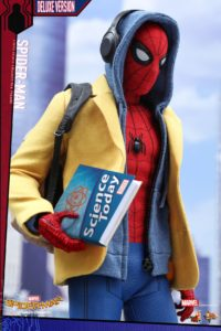 Hot Toys Homecoming Spider-Man Deluxe Figure Wearing Hoodie and Blazer