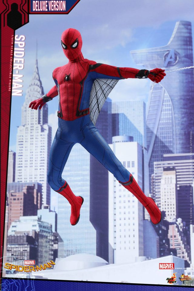 Hot Toys Homecoming Spider-Man Figure with Web Wings