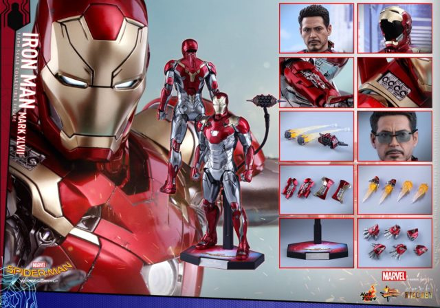 Hot Toys Iron Man Mark 47 Die-Cast Figure and Accessories