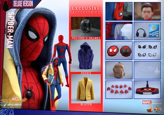 Hot Toys Spider-Man Homecoming Deluxe Figure and Accessories